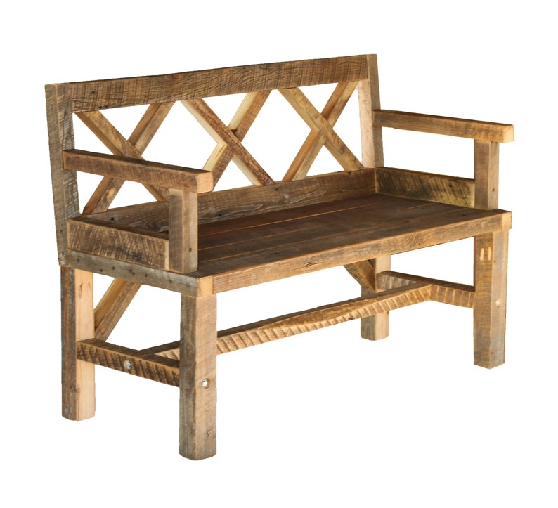 Porch Bench Farmhouse Style X Back Outdoor Furniture Etsy