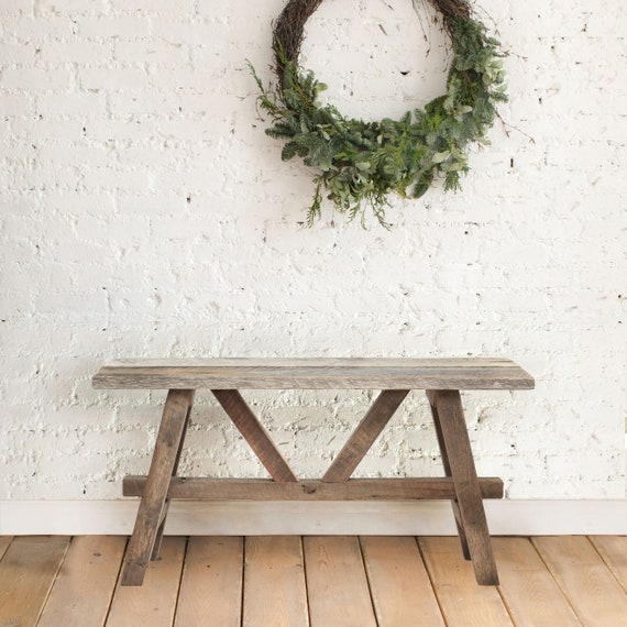 Marvelous Barn Wood Bench Mudroom Bench Rustic Furniture Farmhouse Bench Hallway Bench Small Bench Wood Bench Squirreltailoven Fun Painted Chair Ideas Images Squirreltailovenorg