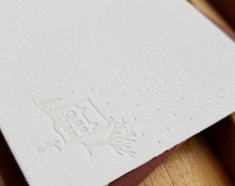 Snowfall Flat Notecards Set of 10