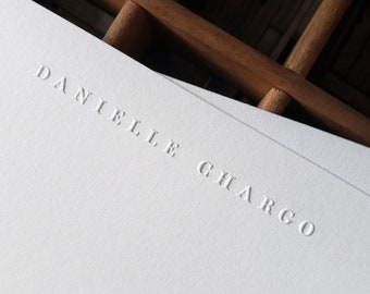 Embossed Stationery   Personalized Notecards