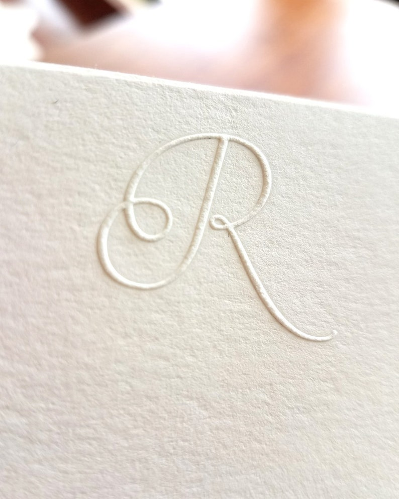 graphic regarding Embossed Stationery identify Embossed Stationery First Notecards Mounted of 10