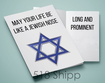 Jewish Nose Greeting Card