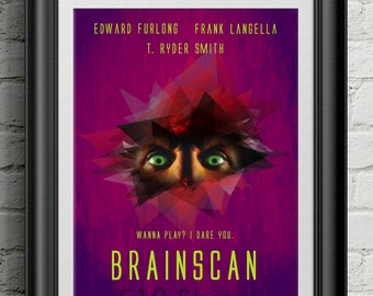 Brainscan Movie Film Poster - The Trickster Horror Art Print Wall Decor Quote