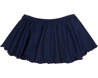 NAVY BLUE Toddler & Girls Flutter Ballet Dance Skirt