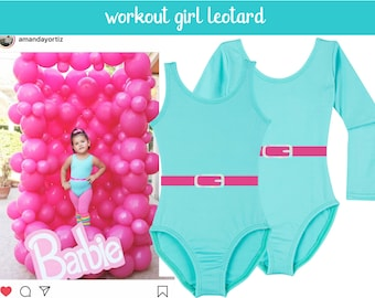 1980s Work Out Girl Costume for Baby, Toddler and Girls  / Fitness Halloween Costume / 80s Workout Outfit for Toddlers / 80s Leotard