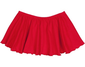 RED Toddler Girls Flutter / Ruffle Ballet - Dance Skirt