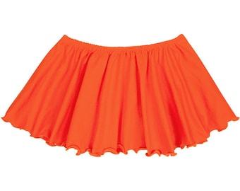 ORANGE Child / Girls Flutter Ballet - Dance Skirt