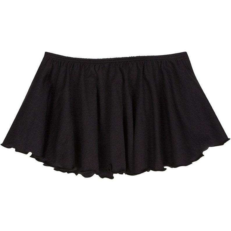 BLACK Toddler & Girls Flutter Ballet  Dance Skirt image 1