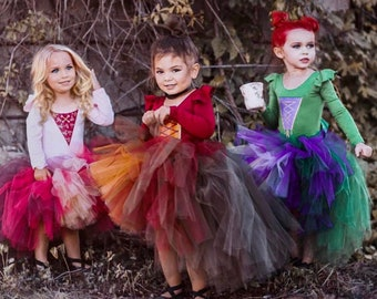 Salem Witch Sisters / Kids Witch Costume / Girls Halloween Costume / Leotard Only