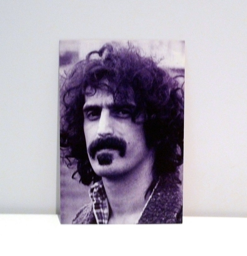 Frank Zappa Postcard 1995 Vintage Mothers of Invention Band Card Number #2 Series Photograph Portrait Rykodisc 90s Mohawk Music Record Store
