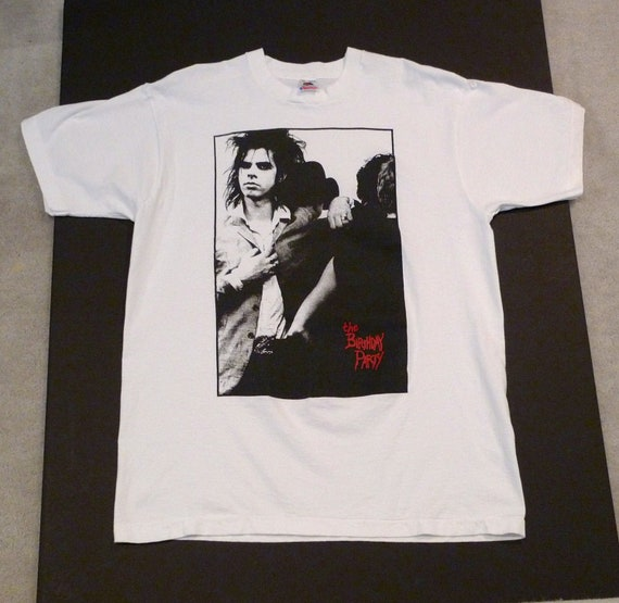 Nick Cave / Birthday Party T-shirt 1980s 1990s Vin