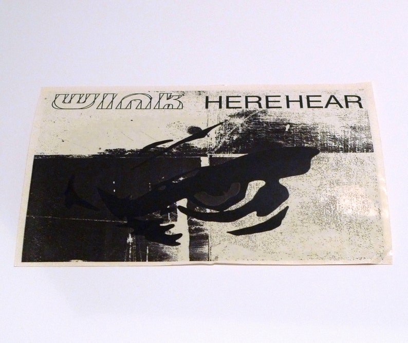 Josh Wink Herehear Postcard 1998 Vintage DJ Logo Album Release Card Ovum Recordings electronic acid house breakbeat techno Mohawk Music