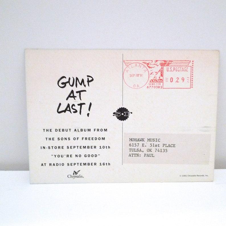 Sons of Freedom Gump Postcard Set 1991 Vintage Canadian Alternative Rock Band Don Harrison Don Binns Don Short 90s Mohawk Music Records