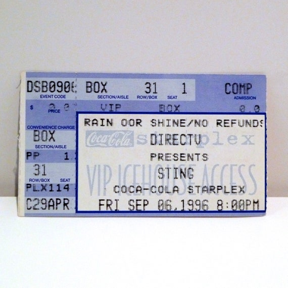 1996 Coca Cola Starplex Dallas Texas Live Concert Tour The