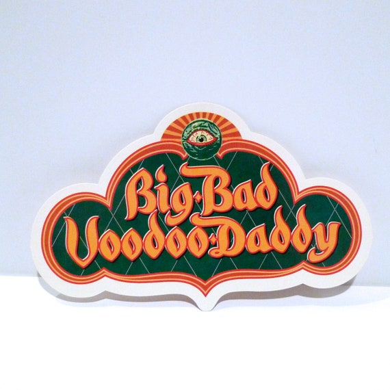 Big Bad Voodoo Daddy Sticker 1998 This Beautiful Life Sticker Or Band Fez Postcard Set Swing Lounge Hip Mohawk Music Record Store
