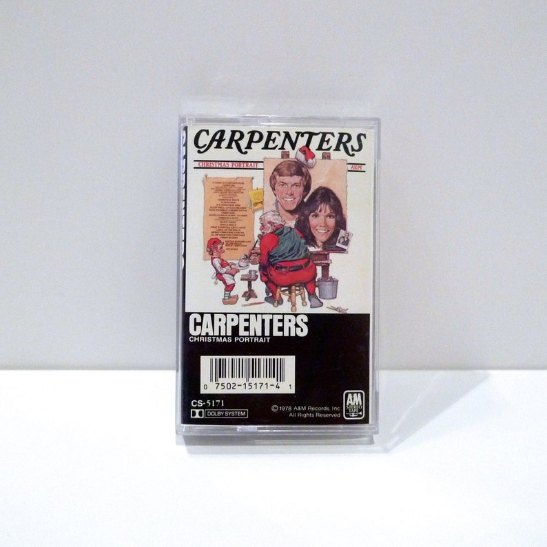 Carpenters Christmas Portrait.Carpenters Christmas Portrait Cassette Tape 1978 Vintage Christmas Music Classics Silent Night Jingle Bells Merry Christmas Darling Karen
