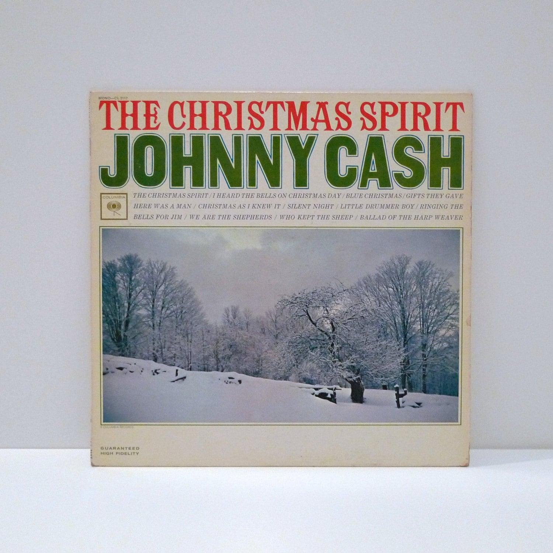 Johnny Cash Vintage Vinyl Record The Christmas Spirit Country | Etsy