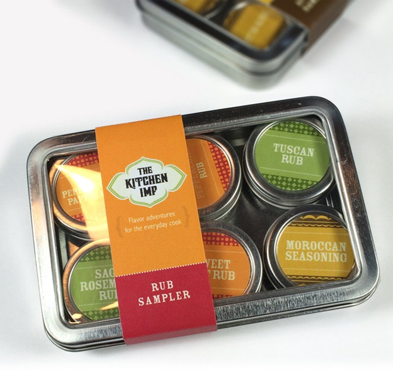 Organic Dry Rub Sampler set of 6  and Recipes  Spice image 0