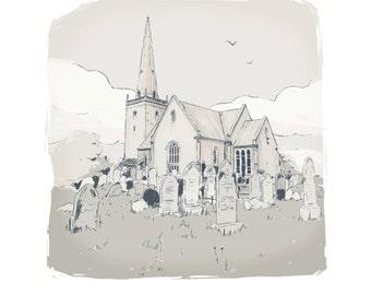 Bangor Abbey - limited Edition Print