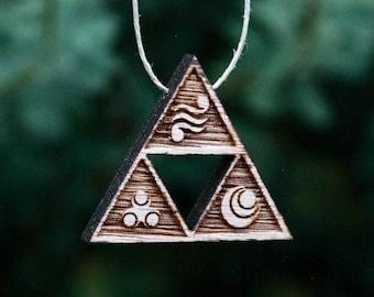 Legend of Zelda Triforce necklace, pendant, jewelry, 3 Goddesses, Zelda, Link, accessories