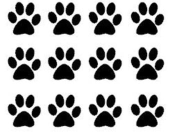Sheet of 20 Puppy/Dog Paw Prints