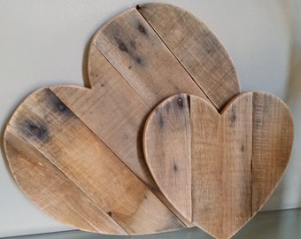 18 inch Rustic Reclaimed Wood Heart
