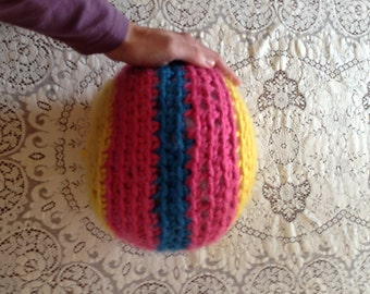 Large Crochet Toy Ball with rattle/bell inside.