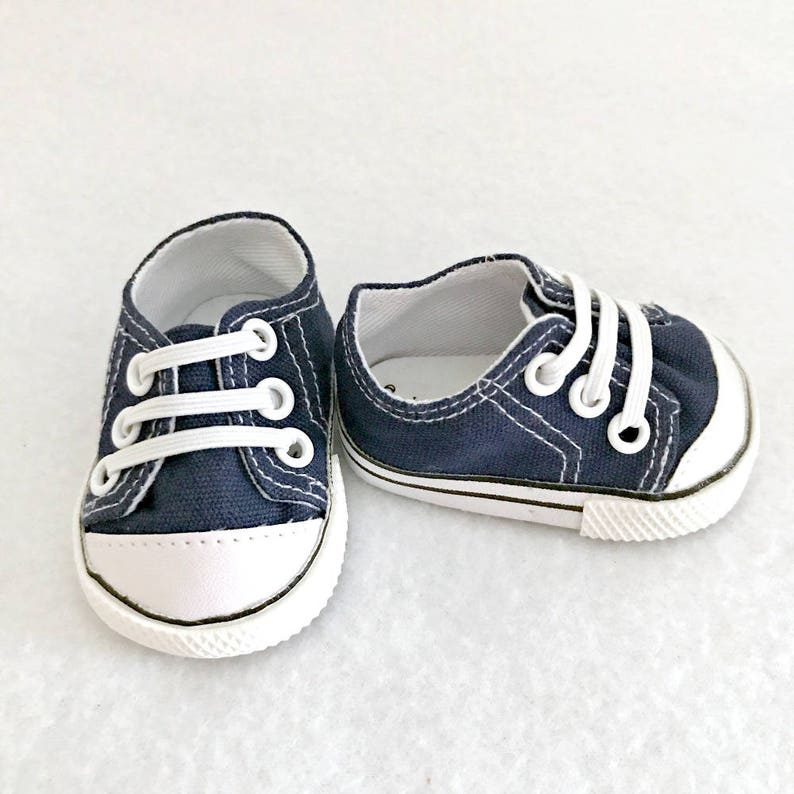 71f495b5c234a Navy Doll Sneakers - 15 to 18 inch Dolls - Doll Shoes - Doll Tennis Shoes -  Slip on Shoes - Doll Accessories - Girl Toy - Gift for Girls