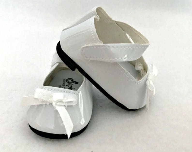 """LAVENDER w// BOW Leather-Look Mary Jane DOLL SHOES fits 18/"""" AMERICAN GIRL Doll"""