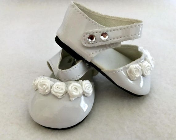 3f22a728c5dc3 18 Inch Doll - White Ankle Strap Doll Shoes - Doll Shoes - Doll Clothes -  Dressy Doll Shoes - Doll Accessories - Girl Gift - Gifts for Girls