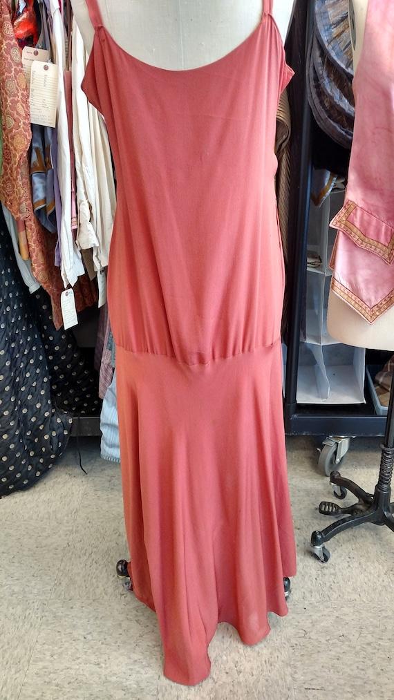 Silky Coral 1920s-30s Slip Dress - image 3