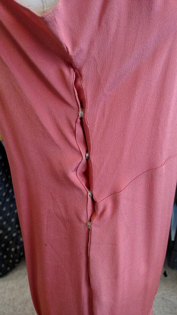 Silky Coral 1920s-30s Slip Dress - image 4