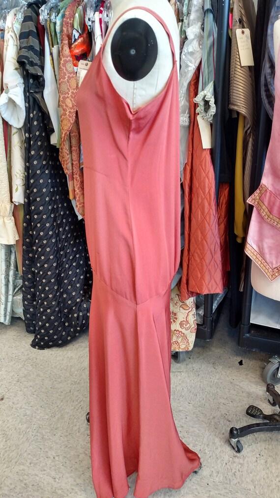 Silky Coral 1920s-30s Slip Dress - image 2