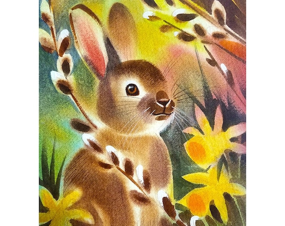 Your new favorite bunny is hiding in the pussy willows.