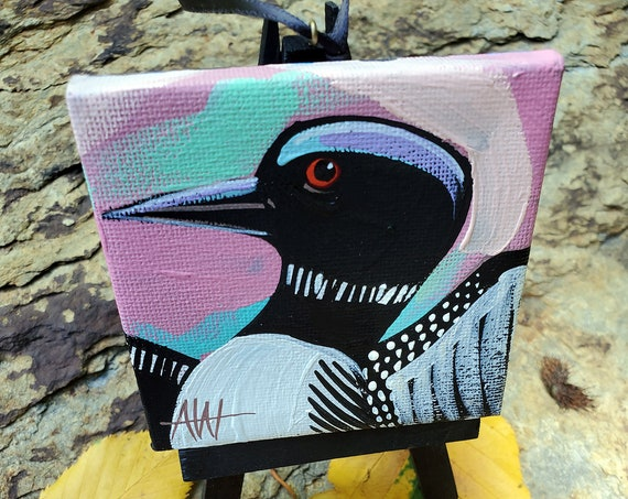 Common Loon For the Bird Lover on your list, a one-of-a-kind painting of this magnificent bird by Ashley Wolff