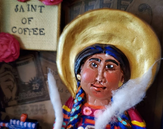 The Saint of Coffee is here to save your morning, and brighten up your kitchen!