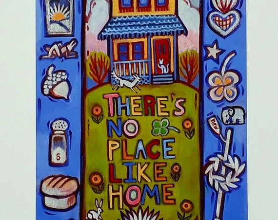 There's No Place Like Home-this print is loaded with images of good luck symbols for your new, or long time, home.