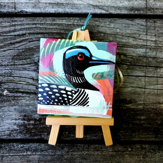 Common Loon. For the Bird Lover on your list, a one-of-a-kind painting of this magnificent bird by Ashley Wolff