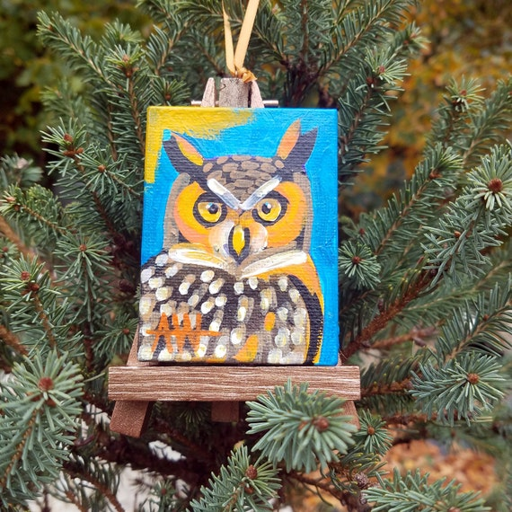 Great Horned Owl. For the Bird Lover on your list, a one-of-a-kind painting of this magnificent bird by Ashley Wolff
