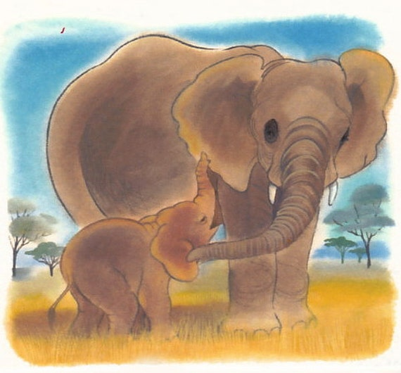 "Many mammal mamas nurse their babies, including elephants. ""Mama's going to nurse you down low by her knees"" is from the book Mama's Milk."