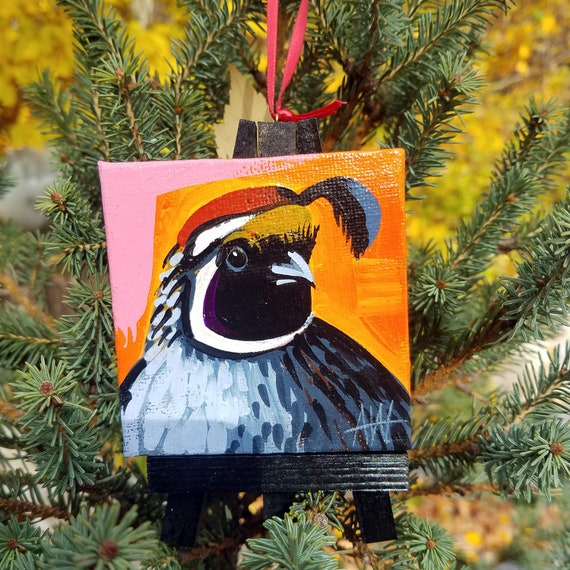 California Quail, California state bird For the Bird Lover on your list, a one-of-a-kind painting of this magnificent bird by Ashley Wolff