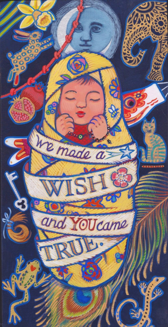 We made a WISH and YOU came TRUE-gorgeous Baby Shower keepsake print