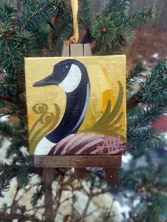 Canada Goose. For the Bird Lover on your list, a one-of-a-kind painting of this magnificent bird by Ashley Wolff