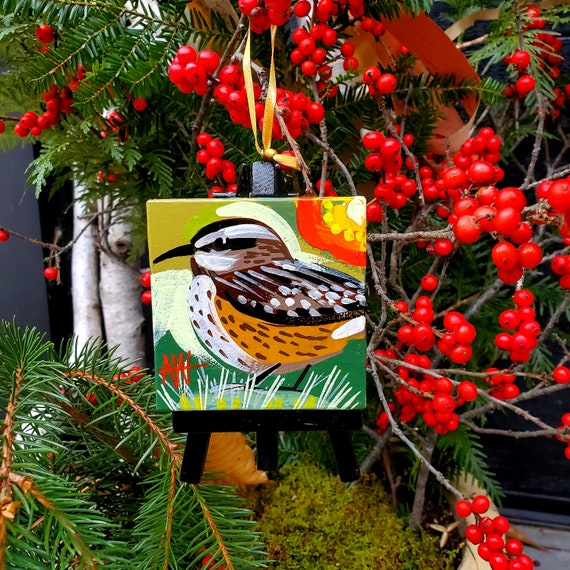 The Cactus Wren, the Arizona State Bird. For the Bird Lover on your list, a one-of-a-kind painting of this magnificent bird by Ashley Wolff