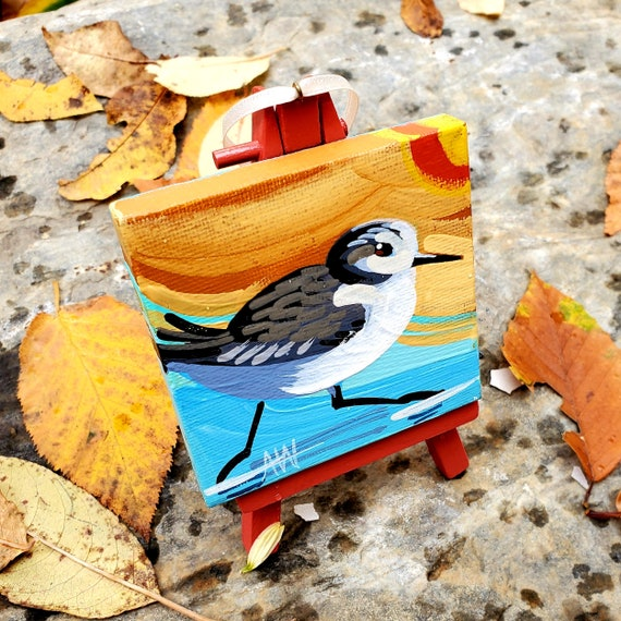 Sandpiper. For the Bird Lover on your list, a one-of-a-kind painting of this magnificent bird by Ashley Wolff
