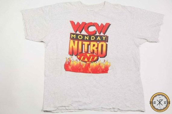 Vintage 90's WCW Monday Nitro TNT Wrestling T-shir