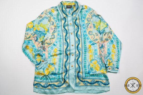 Vintage Gianni Versace Jeans Couture Silk Shirt 90