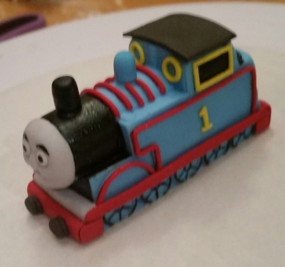 Thomas The Train Cake Topper Etsy