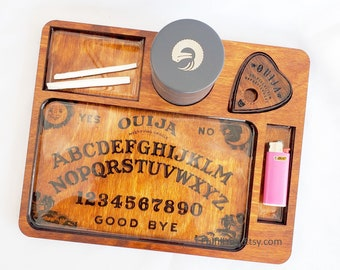 Ouija Board Rolling Tray - Usable Planchette