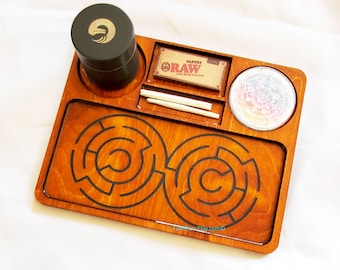 Labyrinth Rolling Tray - Usable Maze Toy